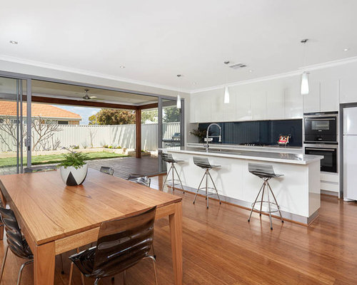 houzz perth kitchen with bamboo floors design ideas remodel