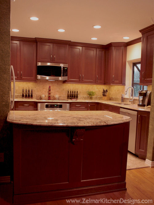 Traditional Kitchen Design Ideas & Remodel Pictures with Dark Wood Cabinets | Houzz