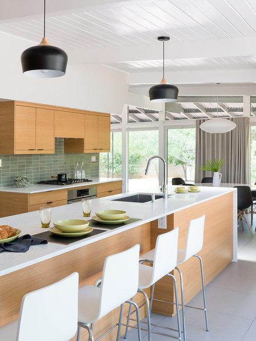 Mid sized midcentury modern open concept kitchen appliance open concept kitchen mid