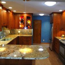 Eclectic Kitchen by Kelly Zamonski