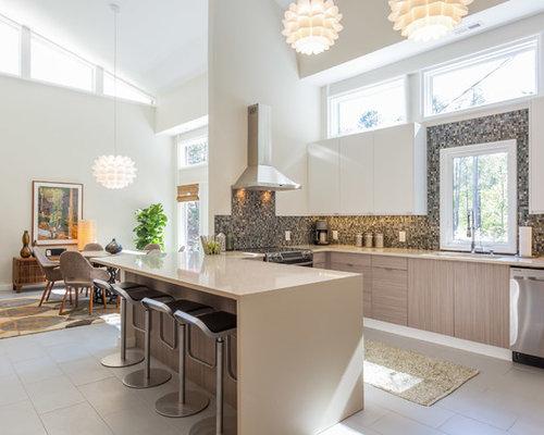 Kitchen with Mosaic Tile Backsplash Design Ideas & Remodel ...