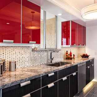75 Most Popular Modern Kitchen With Red Cabinets Design Ideas For