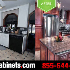 25 Projects For Solid Wood Cabinets. Before And After