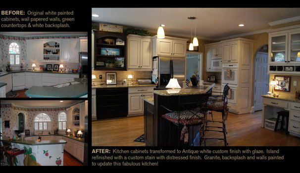 Eclectic Kitchen by Creative Cabinets and Faux Finishes. LLC