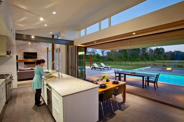 Cocinas abiertas al exterior: 8 ideas de distribución y diseño