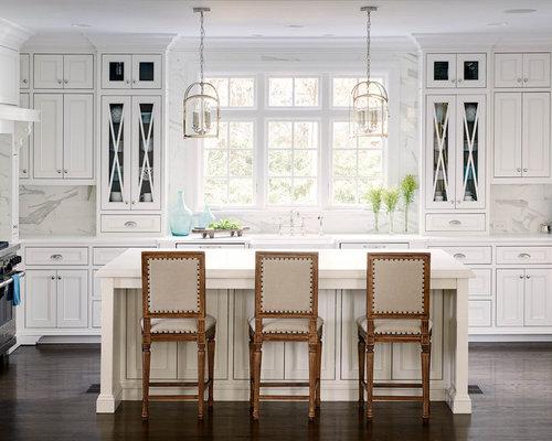 Cabinets Around Window | Houzz