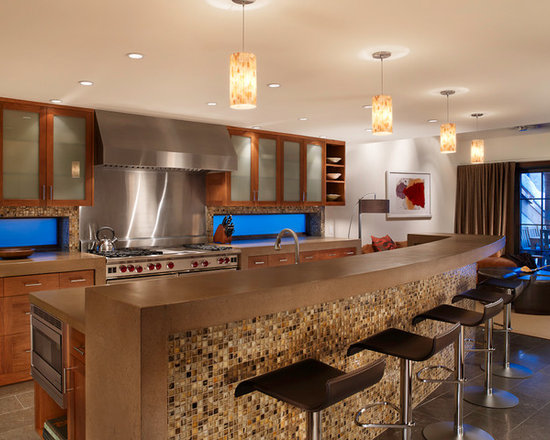 Kitchen Island Knee Wall bar kneewall | houzz