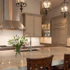 Transitional Kitchen by Connie Anderson Photography