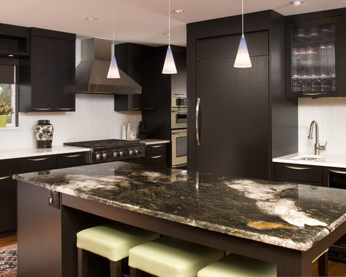Espresso Dark Kitchen Cabinets | Houzz