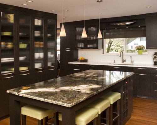 Inspiration For A Contemporary Kitchen Remodel In Seattle With An  Undermount Sink, Flat Panel