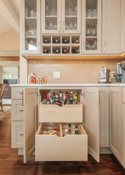 Transitional Kitchen by Kayron Brewer, CMKBD / Studio K B