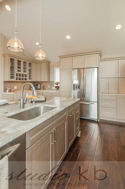 Transitional Kitchen by Kayron Brewer, CKD, CBD / Studio K B