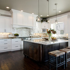 Transitional Kitchen by Bellmont Cabinet Co.