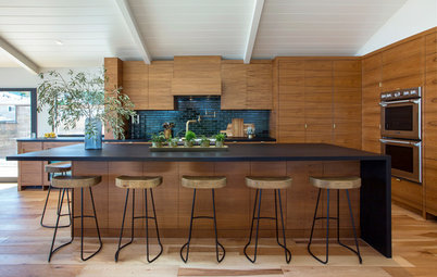 Kitchen of the Week: Modern Teak Cabinetry Nods to Danish Design