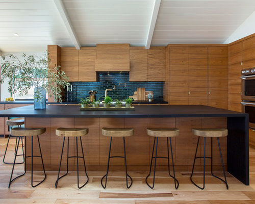 Contemporary Kitchen Designs   Contemporary Galley Light Wood Floor And  Brown Floor Kitchen Idea In San Part 77