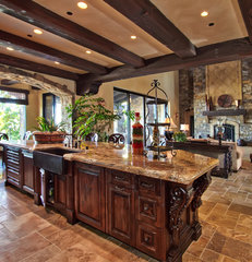 mediterranean kitchen by Liggatt Development, Inc