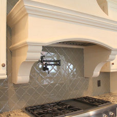 Transitional Kitchen by TILE COLLECTION INC