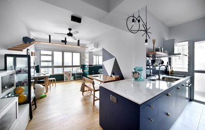 Houzz Tour: A Hip and Modern Update For A Cat-Friendly Home