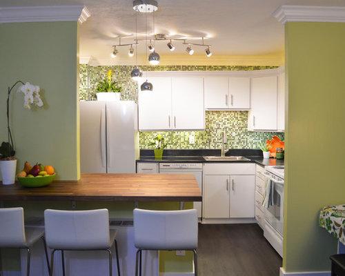 asiatische k chen mit wei en elektroger ten ideen bilder. Black Bedroom Furniture Sets. Home Design Ideas