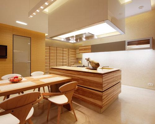 Moderne Wohnküchen moderne wohnküchen mit betonboden ideen bilder