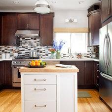 Transitional Kitchen by Faiella Design