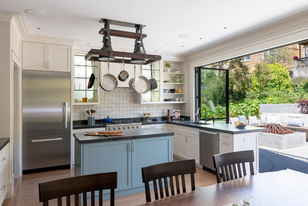 Transitional Kitchen by Gast Architects