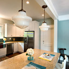 Green Cabinet Hutch - Traditional - Kitchen - chicago - by Great Rooms Designers & Builders