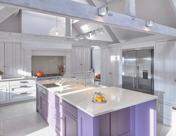 Bespoke Kitchen with Beautiful Beams | Knutsford Barn Conversion
