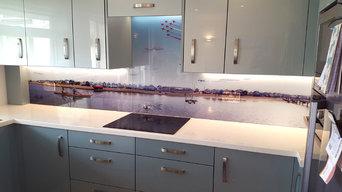 Bespoke Mudeford beach hut kitchen splashback