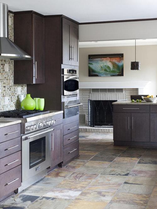 Slate Floor Kitchen | Houzz