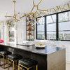 A Chic, Modern Kitchen in Black, White and Brass
