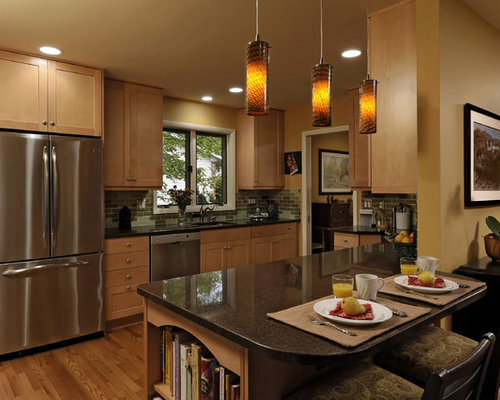 Elegant Galley Kitchen Photo In Dc Metro With Stainless Steel Appliances Shaker Cabinets Medium