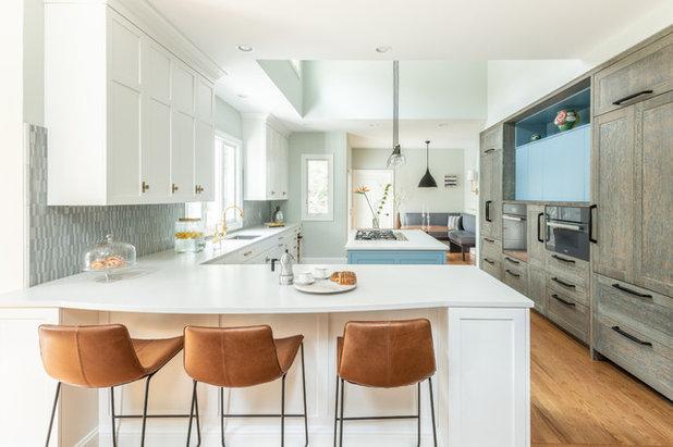 Transitional Kitchen by Sarah Kahn Turner