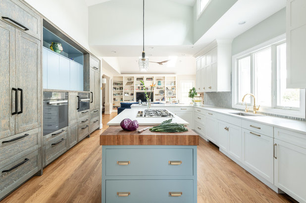 Transitional Kitchen by Sarah Kahn Turner