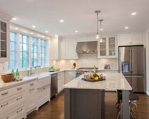 Traditional L Shaped Kitchen Design Ideas Renovations Photos