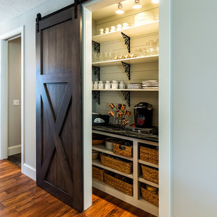 Inspiration for a small classic single-wall kitchen pantry in Chicago.