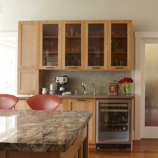 Inspiration For A Transitional Kitchen Remodel In San Francisco With  Granite Countertops, Stainless Steel Appliances