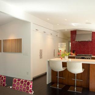 Large Midcentury Modern Eat In Kitchen Designs 1960s