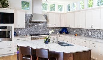 Bianco Macaubas quartzite kitchen