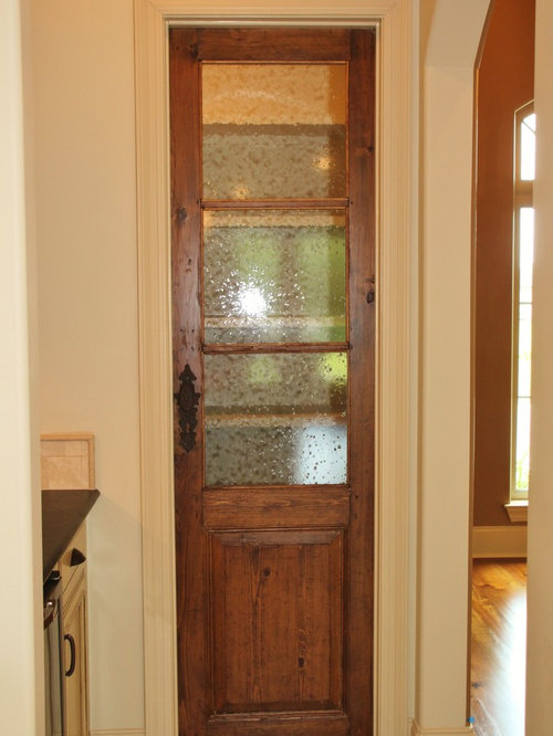 Pantry Door With Seeded Glass Ideas, Pictures, Remodel and Decor