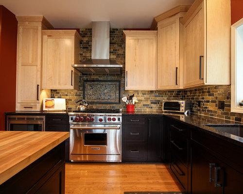 Kitchen Backsplash Stone Tiles stone tile backsplash | houzz