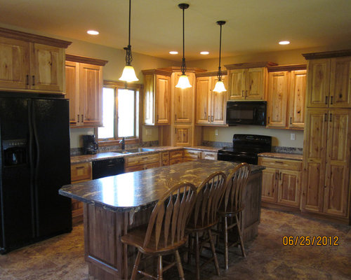 Rustic Hickory Cabinets Ideas Pictures Remodel And Decor