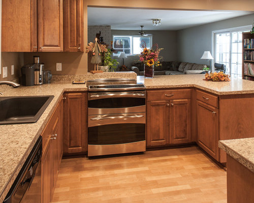 Laminate Countertop Dishwasher : ... laminate countertops, multicolored backsplash and stainless steel