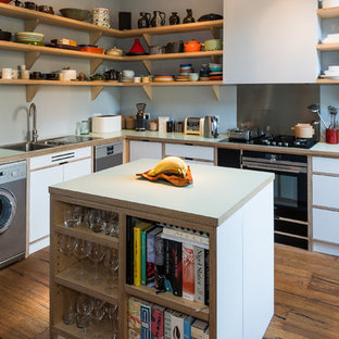 Birch Plywood and Laminate Mews House Kitchen