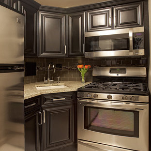 Elegant Kitchen Photo In New York With An Undermount Sink, Raised Panel  Cabinets,
