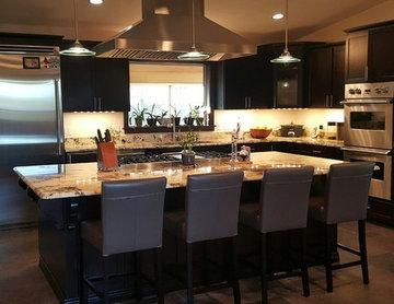 Black & Modern Heater Family Kitchen: Ft. Proline ProSI Island Range Hood
