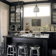 Traditional Kitchen Black & White Edwardian Kitchen