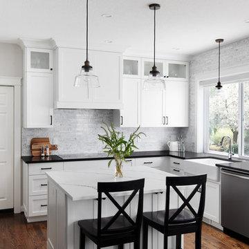 Black and White Kitchen - Hillsboro