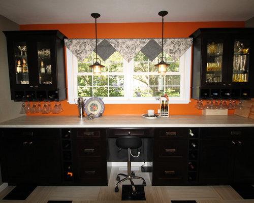 Black kitchen design ideas renovations amp photos with lino flooring