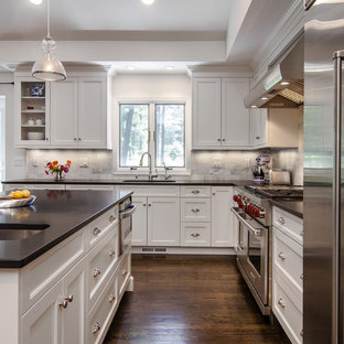 Cute Room Decor Ideas, White Kitchen Black Granite Houzz